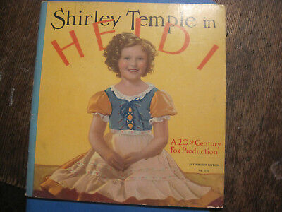VTG 1937 Shirley Temple in Heidi -Photos from Movie-SOFTCOVER