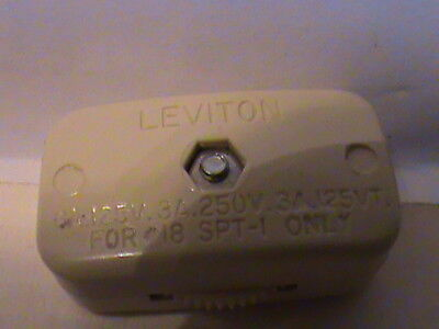 Cord Switch egg shell - UL Listed - Leviton Brand - Inline Cord Switch -