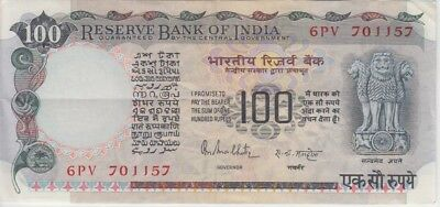 India Banknote P85A 100 Rupees Sig 85, Nice Circulated