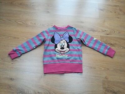 BNWT Marks And Spencer Girls Age 5-6  MINNIE MOUSE JUMPER SWEATSHIRT.