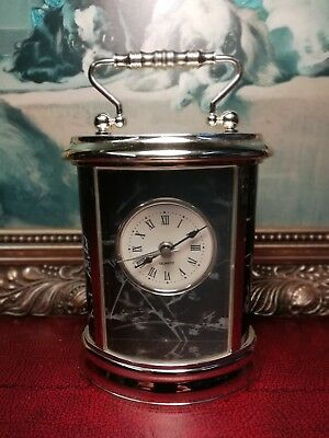 Excellent Little Plastic Quartz Carriage Clock, With Alarm. Working.