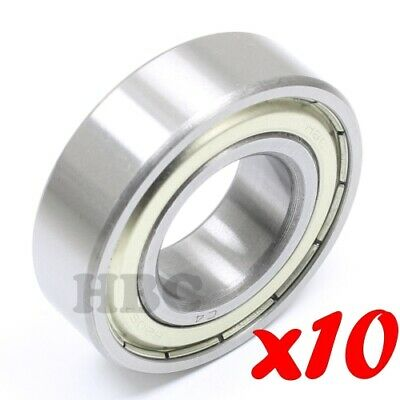 Set of 10 RADIAL BALL BEARING 6205-ZZC4 WITH 2 METAL SHIELDS C4 FITTING