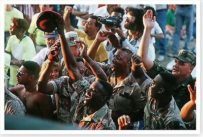 Soldiers At USO Show Desert Storm National Victory Celebration Day 8 x 12 Photo