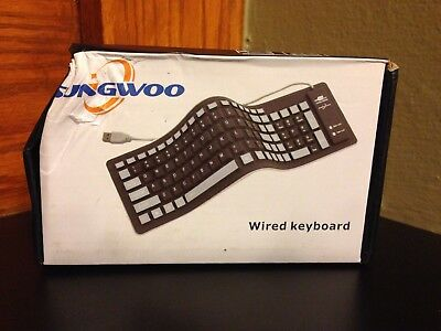 Sungwoo Foldable Silicone Keyboard USB Wired Waterproof Rollup