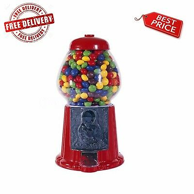 Vintage Candy Gumball Machine and Bank ,Classic Kid Play By Carousel