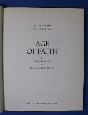 Great Ages Of Man - Age Of Faith - Book In English - Time Life Books 1968 Art