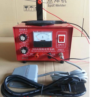 80A 400W Pulse Spot Welder Welding Jewelry Gold Silver Platinum ONLY 220V new