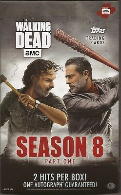 2018 Topps Walking Dead Season 8 Part 1 Opened Hobby Box autograph sketch ?
