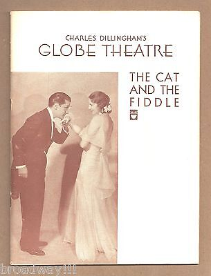 """Jerome Kern """"CAT AND THE FIDDLE"""" Otto Harbach / Automobile Show 1932 Playbill"""