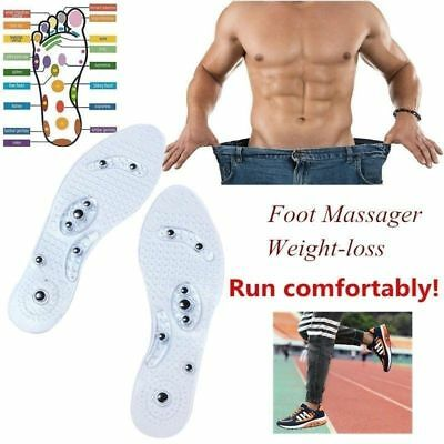 2 Pairs Silicone MindInsole Unisex Insole Magnetic Therapy Anti Fatigue Massage