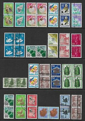JAPAN mixed collection, joined pairs & blocks No.55, used