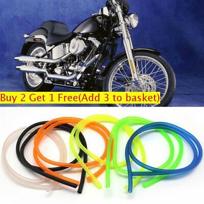 New 5mm I/D 8mm O/D Universal Motorcycle Bike Petrol Fuel Hose Gas Oil Pipe Tube