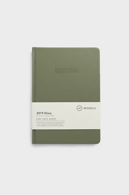 MiGoals - 2019 Classic Diary - Weekly - A5 - Hard Cover - Khaki
