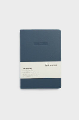 MiGoals - 2019 Classic Diary - Weekly Notebook - A5 - Soft Cover - Navy