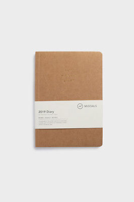 MiGoals - 2019 Minimal Paper Bound Diary - Weekly Notebook - A5 - Soft Cover - K