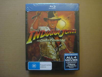 INDIANA JONES The Complete Adventures AUSSIE 5 x BLU RAY BOX SET - BRAND NEW
