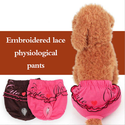 Dog Physiological Pants Puppy Pets Diaper Sanitary Girl Shorts Panties Underwear