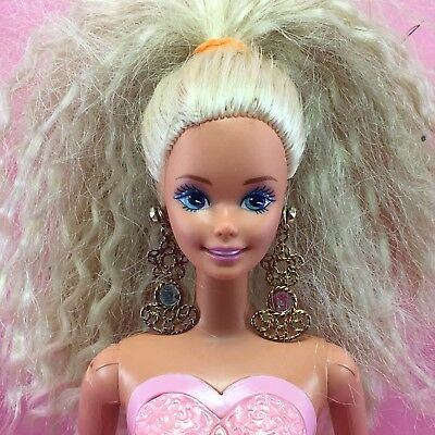 Barbie 1993 LOCKET SURPRISE Nude Chest Compartment Long Earrings TNT Doll R16