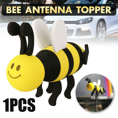 1X Car Antenna Accessories Smiley Honey Bumble Bee Aerial Ball Decor Topper US