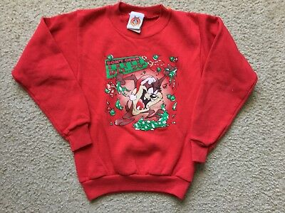 Toddler Vintage 1998 Looney Tunes Taz Sweatshirt Christmas Size 4T
