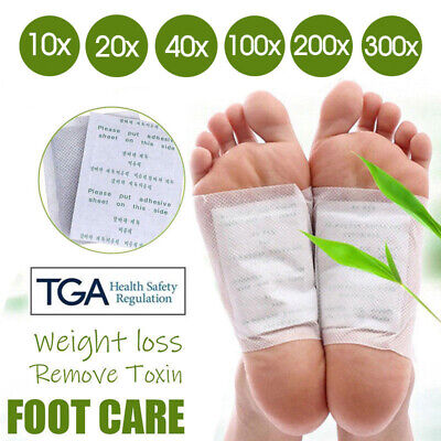 10/100/300x Detox Foot Patch Pads Natural plant Toxin Removal Sticky Adhesives