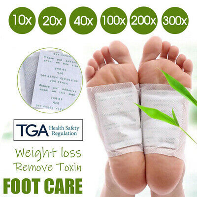 10-300x Detox Foot Patch Pads Natural plant Toxin Removal Sticky Adhesives