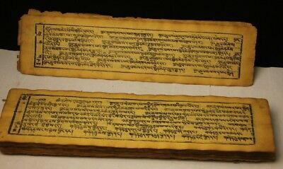 Wonderful Amazing Rare 18th Century Old Antique Tibet Buddhism Sutra Lection