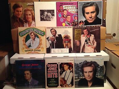 George Jones Lot of 10 Vintage Vinyl LP Records