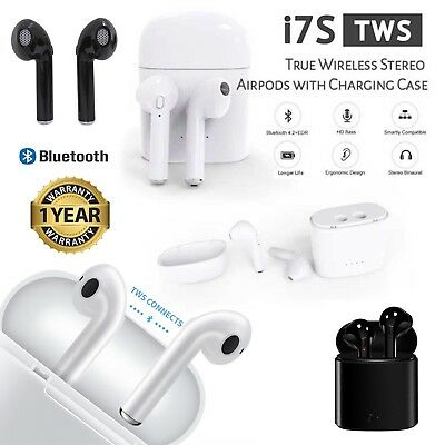 i7S TWS Wireless Bluetooth Stereo Mini Headphones Earphones for IOS and Android