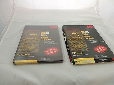 3M TRANSPARENCY FILM PP 2500 PLAIN PAPER COPIERS 2 BOXES 1 New Sealed 8.5 x 11