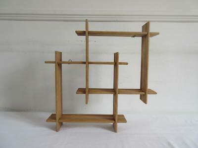 Vintage Retro 60's/ 70's Wall Hanging Whatnot / What Not Shelves/ Shelving