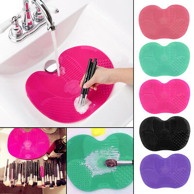 Beauty Silicone Makeup Brush Cleaner Cleaning Cosmetic Scrubber Board Mat Pad