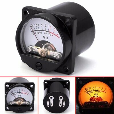 Panel VU Meter 6-12V Bulb Warm Back Light Recording Audio Level Amp Meter USA