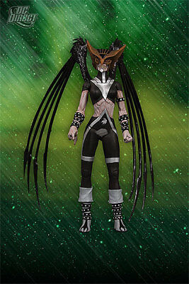 Blackest Night series 6 Black Lantern Hawkgirl action figure DC Direct sword new