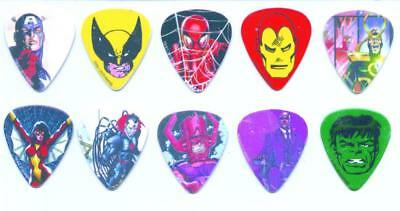 Marvel guitar picks lot of 10 Peavey Captain America Wolverine Spider-Man Hulk