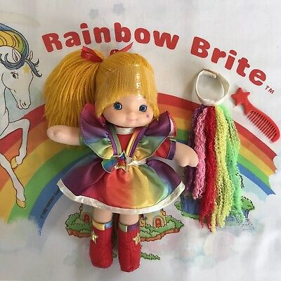 1983 RAINBOW BRITE DRESS UP DOLL WITH HAIRPIECE & COMB - Made in China By Mattel