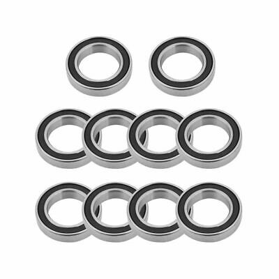 10Pcs 6802-2RS 15x24x5mm Rubber Sealed Deep-groove High-speed Ball Bearing Steel