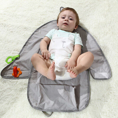 1XPortable Baby Infant Nappy Diaper Changing Clutch Mat Travel Camp Foldable Pad