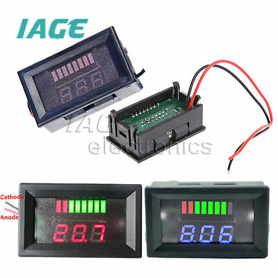 Charge Level Red/Blue Indikator Voltmeter 6V/12V/24V/36V/48V Lead-acid Battery