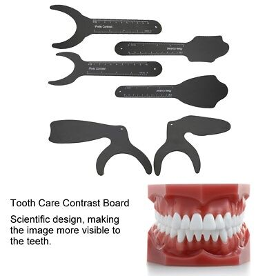 Dental Photo Contrast Black Background Board Oral Palatal Photo Contraster 6type