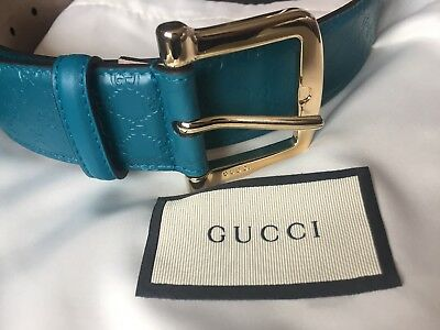 Gucci Logo Embossed Leather Belt RRP£295 Brand New With Dust And Gift Bag 2ef64b311f3