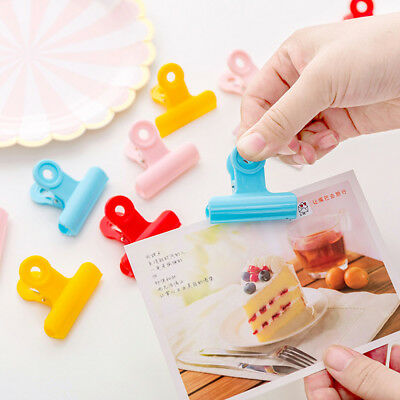 Plastic Candy Color Food Clips Kitchen Tool Sealing Clamp Snack Bag Sealer
