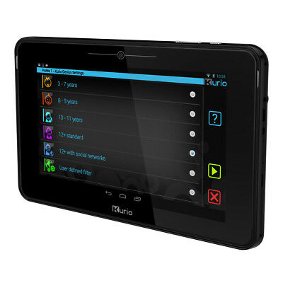 KURIO 10S Android Tablet for Families with Protective Bumper, Black (C13300-UK)