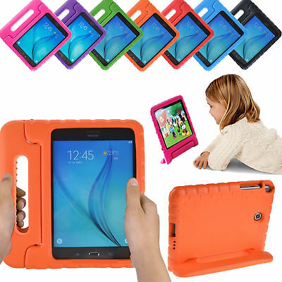 "For Samsung Galaxy Tab 4 7.0""&8.0"" Tablet Case Kids Shockproof Foam Handle Stand"