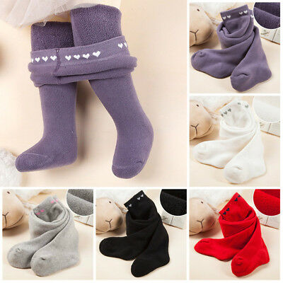 Kids Baby Girl Thick Warm Pantyhose Tights Stockings Socks Pants Trousers Strech