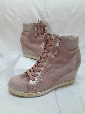 Sneakers Donna Scarpe Alte 38 Geox Lacci Zeppa Woman Shoes Schuhe MADE ITALY a0c8ee6403cc