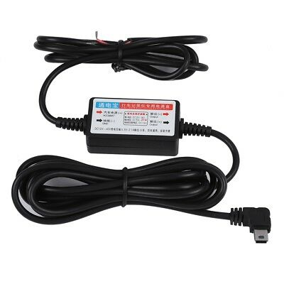 MICRO USB 12V to 5V Wire Cable Car Charger For Camera Recorder DVR Power Box 3m