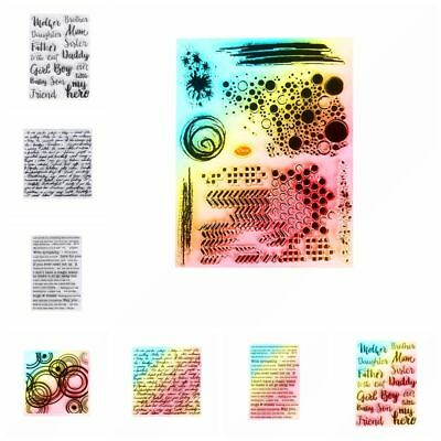 Decorative Clear English Words Silicone Rubber Transparent Stamp Scrapbooking