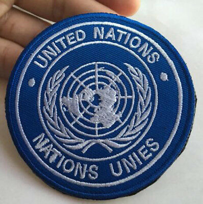 United nations badges patches nations unies armband army Hook Embroidery Patch