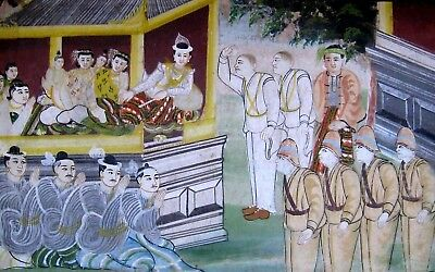 Anglo Indian Colonial School (19th C) Original Painting. British Raj in India